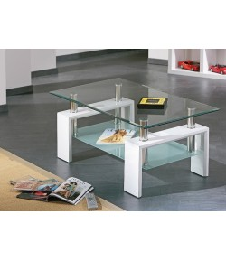 """CYBER"" GLASS COFFEE TABLE"