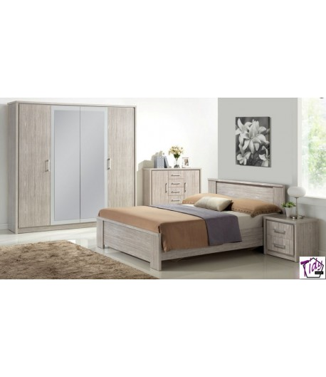 Chambre adulte emily grise tidy home - Chambre adulte grise ...