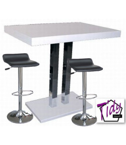 Table haute mady 4 tabourets tidy home for Conforama table bar haute