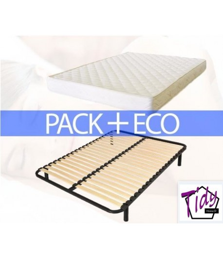 ensemble matelas et sommier pack eco tidy home. Black Bedroom Furniture Sets. Home Design Ideas