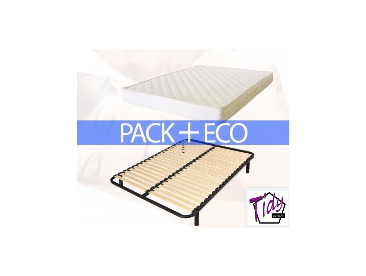ensemble matelas et sommier pack eco tidy home. Black Bedroom Furniture Sets. Home Design Ideas
