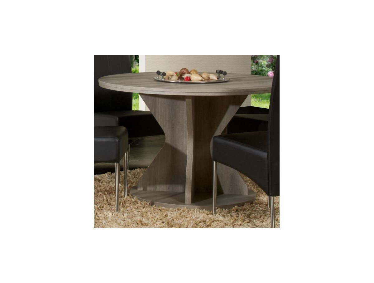 Table ronde avec allonge mirabelle tidy home - Table ronde avec allonges ...