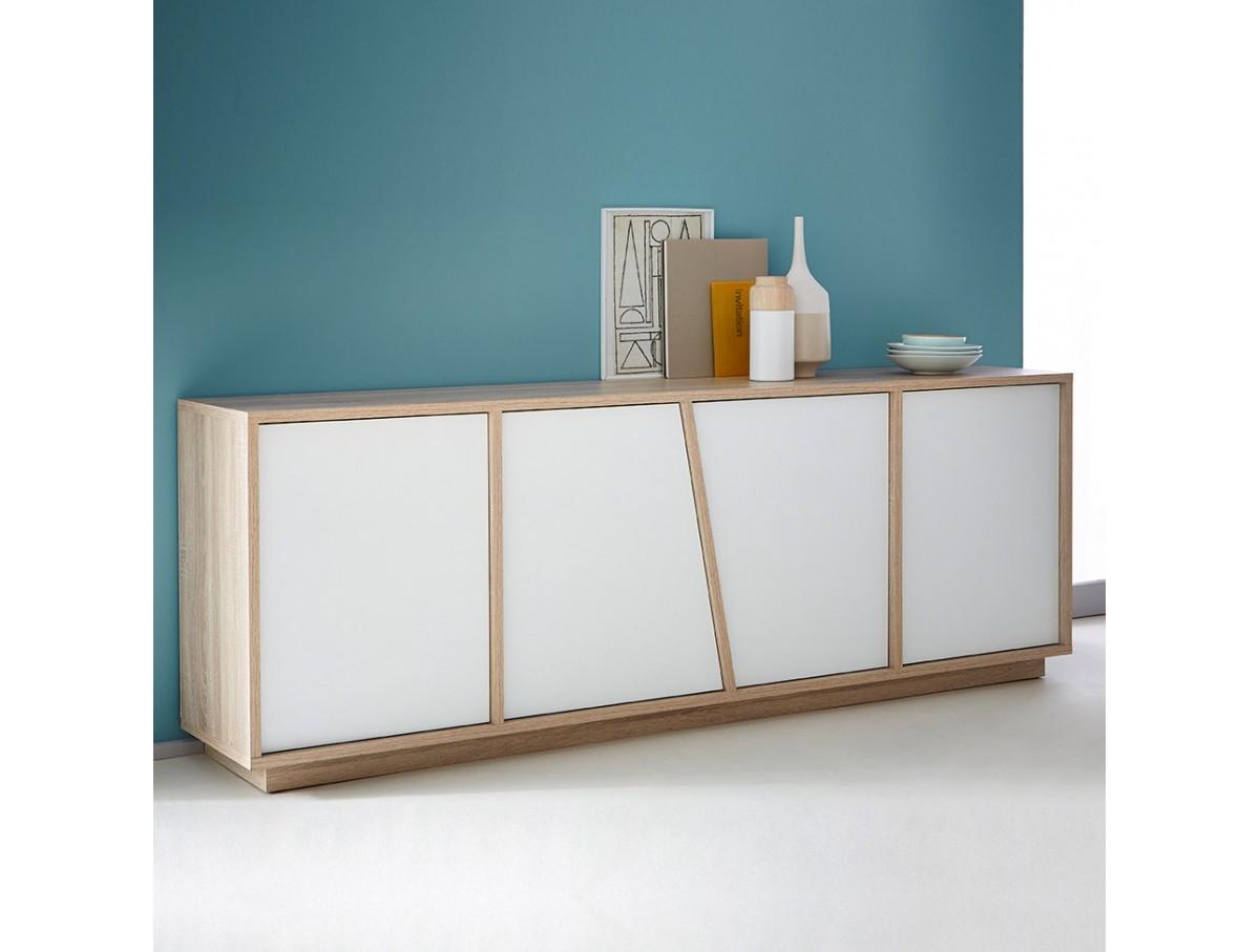 buffet 4 portes naty tidy home. Black Bedroom Furniture Sets. Home Design Ideas