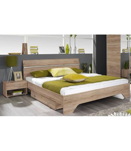 lit 160x200 avec 2 chevets bacchus tidy home. Black Bedroom Furniture Sets. Home Design Ideas