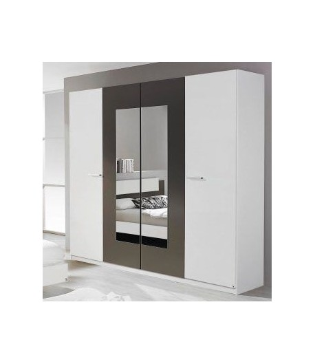 armoire 4 portes barbara tidy home. Black Bedroom Furniture Sets. Home Design Ideas