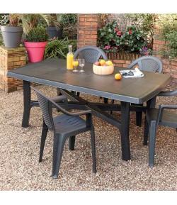 Table + 4 chaises de jardin Jenna