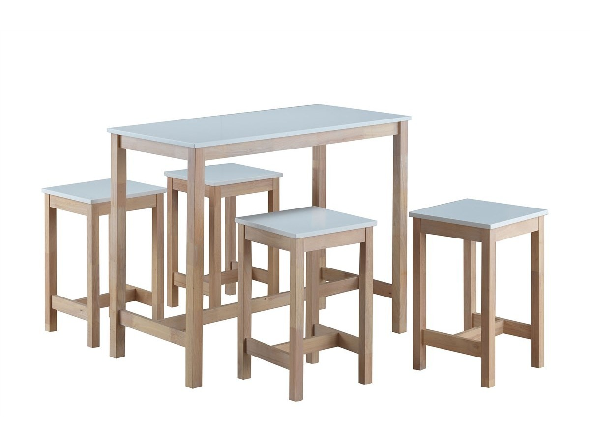 Table haute 4 tabourets maude tidy home for Table haute cuisine et tabouret