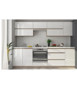 Cuisines tables de cuisine chaises de cuisine buffets meubles bas - Cuisine blanche laque ...