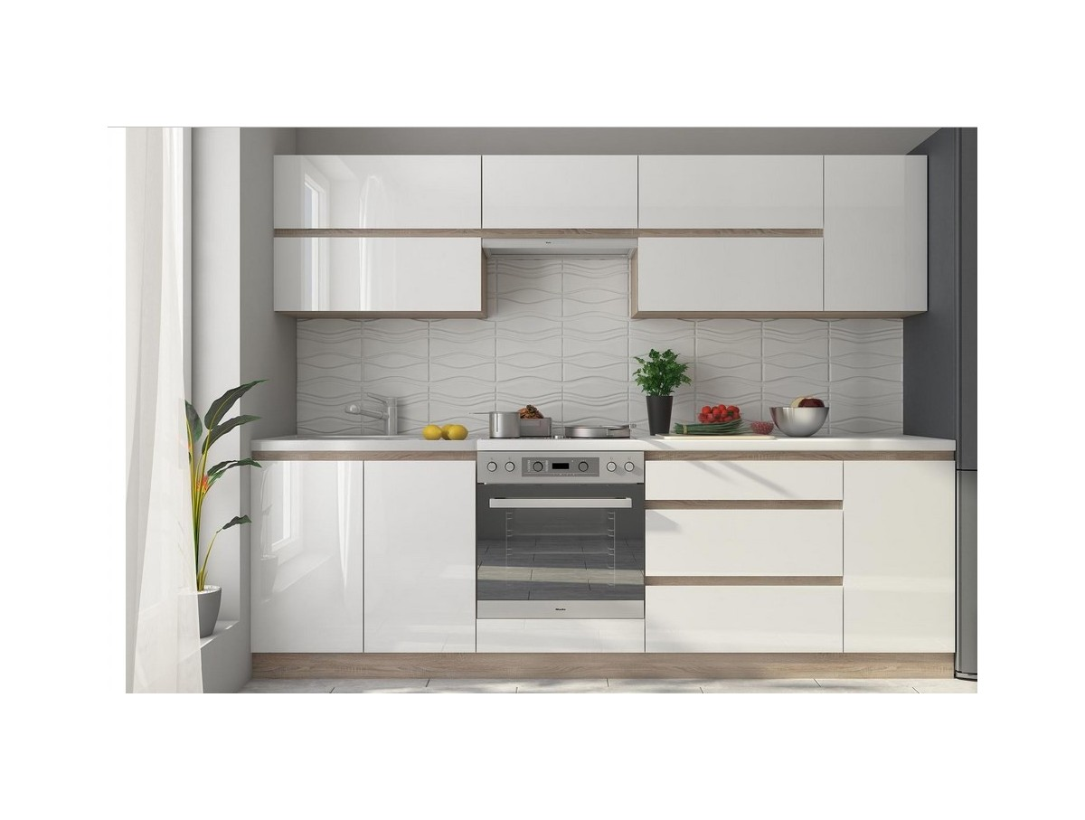 Cuisine alina blanche tidy home for Cuisine blanche laque