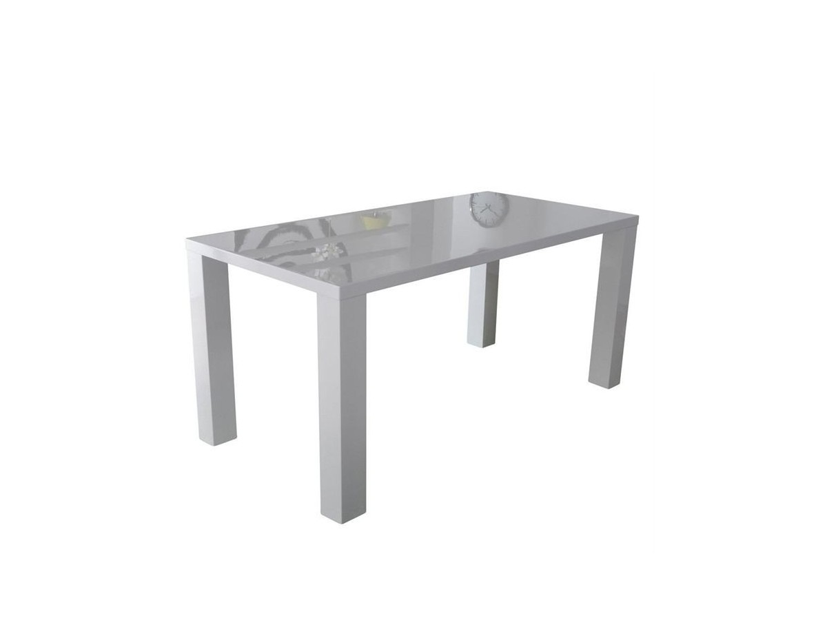 Table de s jour blanche laqu 160cm tidy home for Table sejour