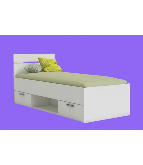 lit 90x200 m gane avec tiroirs tidy home. Black Bedroom Furniture Sets. Home Design Ideas