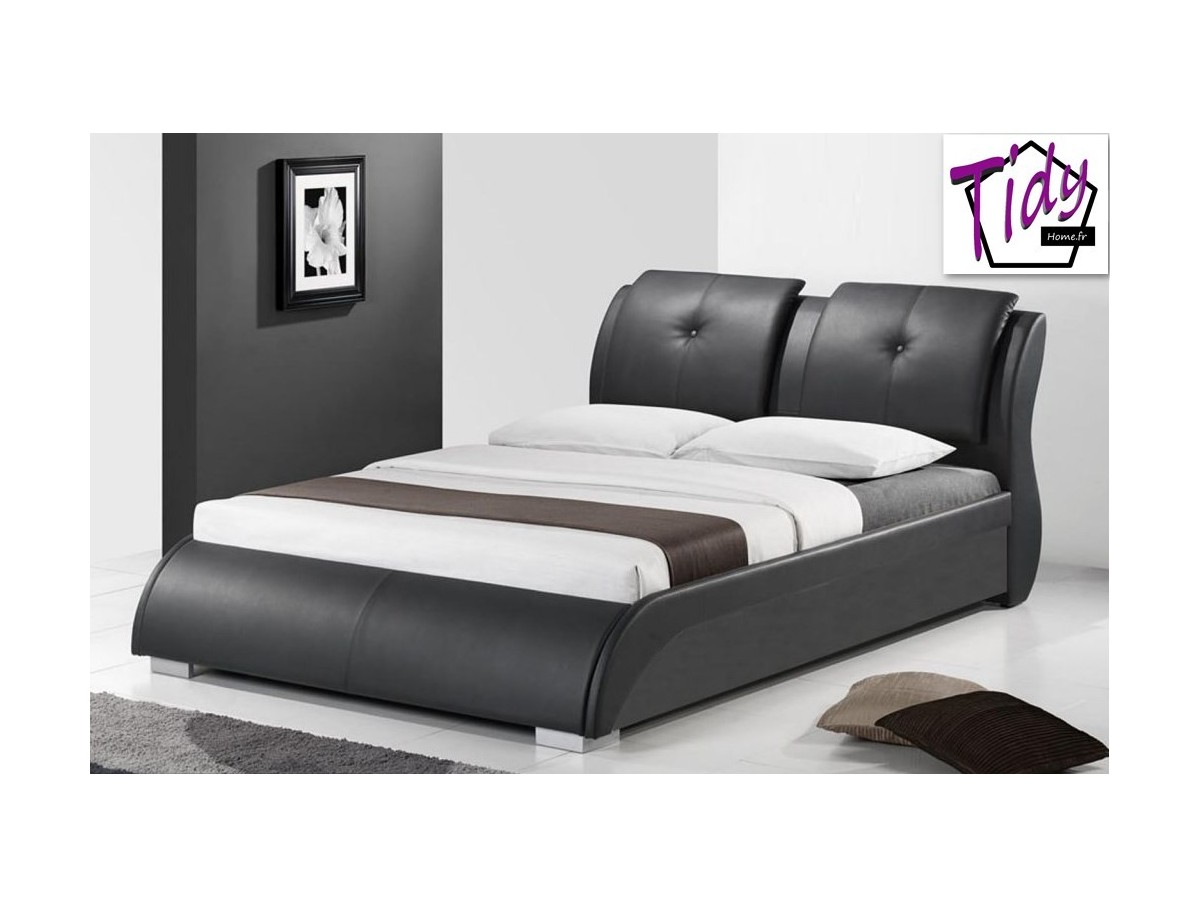 lit 140x200 dylan en imitation cuir tidy home. Black Bedroom Furniture Sets. Home Design Ideas