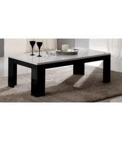 "Table basse blanc/noir ""LISA"""