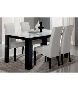 """Table blanche/noire 190 cm """"LISA"""""""