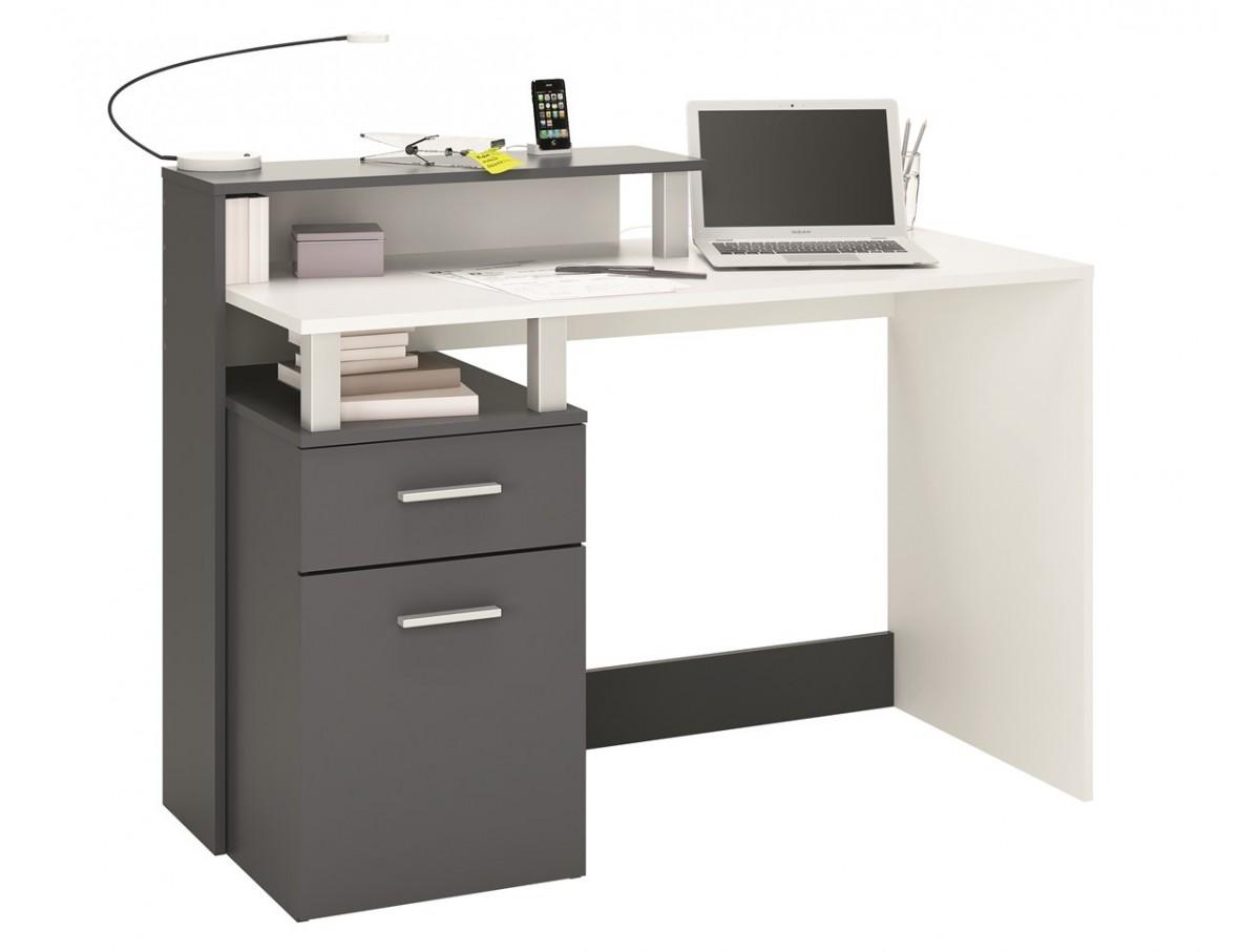 Bureau 1 porte 1 tiroir aurelie tidy home - Porte photo bureau ...